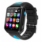 4G Kids Smart Watch Waterproof Dual Camera Wifi HD Smartwatch Tracker Video Call - Black/Blue