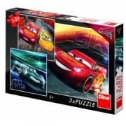 Puzzle 3 in 1 - Cars 3 Cursa cea mare 55 piese
