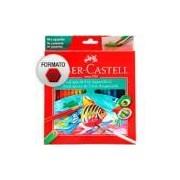 Lápis de cor 48 cores Aquarelável sextavado 120248 Faber Castell