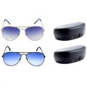 Magjons Aviator Sunglasses Combo Set of 2 With box MJ7760