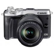 Systeemcamera Canon EOS M6 Incl. EF-M 18-150 mm 24.2 Mpix Zilver WiFi, Bluetooth, Full-HD video-opname