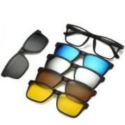 Bruzone Rectangular Sunglasses(Grey, Yellow, Brown, Blue, Silver)