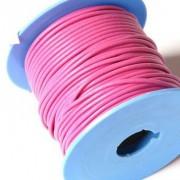 Cordon cuero rosa calidad superior 2mm (precio por 50 cm )