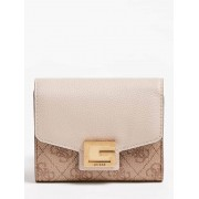 Guess Valy Miniportefeuille 4G-Logo - Beige - Size: T/U