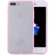 Para IPhone 8 Plus Y 7 + TPU + PC Frosted Transparente Funda Protectora (rosa)
