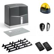 Automatizare porti culisante Allmatic Moveo pentru porti de pana la 600Kg, 4 metri cremaliera, 2 telecomenzi, fotocelule si lampa de semnalizare (Allmatic)