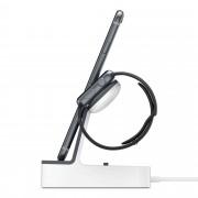 Belkin PowerHouse Charge Dock - сертифицирана докинг станция за зареждане на iPhone и Apple Watch (бял)
