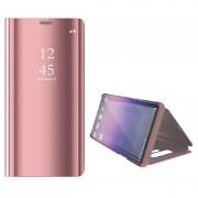 Luxury Series Mirror View Samsung Galaxy Note9 Flip Case - Cor-de-Rosa Dourado