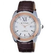 Titan Quartz White Round Men Watch 9492KL02