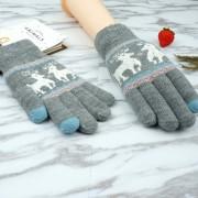 Touch Screen плетени ръкавици - сиви