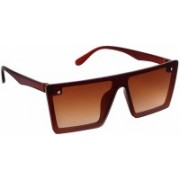 Eyevy Wayfarer, Retro Square, Shield, Rectangular, Clubmaster Sunglasses(Brown)