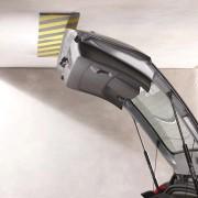 Černo-žlutý pěnový pás na ochranu stěn - délka 100 cm, šířka 15 cm a výška 1 cm
