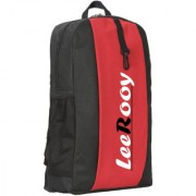 LeeRooy MN-LeeRooy Canvas 18 Ltr Black Red School Bag Backpack For Unisex 18 L Backpack (Red Black)