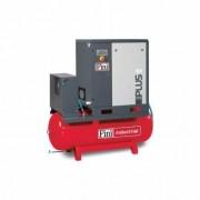 Compresor cu surub 1000 l/min, 10 bar, 7.5 kw Fini PLUS8-10-500ES, cu butelie 500 L cu uscator de aer
