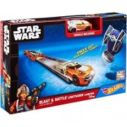 Hot Wheels - Star Wars Blast and Battle Lichtschwert Starterset Luke Skywalker CMM33