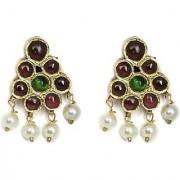 Silverwala Spring Sparkle Spinel Pearl Silver Stud Earring (TJS72A)