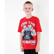 tričko chlapecké TV MANIA - Angry Birds / Star Wars - Red - SWAB 322