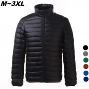 Ultra Jacket Coats Luz Delgado Abajo hombres - Negro (XL)