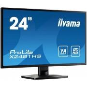"IIYAMA 24"" LCD iiyama X2481HS-B1 - VA, 6ms, 250cd/m2, 3000:1 (12M:1 ACR), VGA"