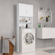 vidaXL Armário máquina de lavar roupa 64x25,5x190 cm aglomerado branco