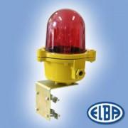 Akadályvilágító lámpa LBFR 03 szimpla 100W oszlopra szerelhető, izzóval IP54 Elba