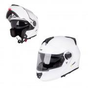 W-tec Výklopná Moto Helma W-Tec Vexamo Bílá L (59-60)