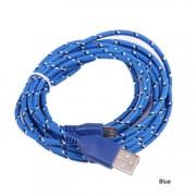 Cablu Date si Incarcare Micro Usb Cablu Panza Culoare Albastru pt Telefon
