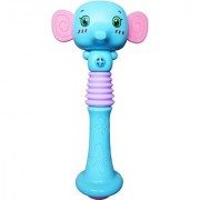 Emob Cute Elephant Face Shaking Squeezable Baby Rattle Toy for Your Little Ones Rattle (Multicolor)