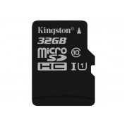 Memorija Micro SD 32GB Kingston, Class 10 + adapter, UHS-I 10MB/s, SDCS/32GB
