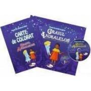 Graiul animalelor - basme povestiri africane carte de povesti+carte de colorat+ CD cadou