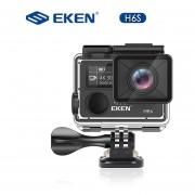 Original EKEN H6S 4K + Ultra HD 14MP con EIS remoto videocámara deporte Ambarella A12 Chip Wifi 30m cámara de Acción con Sensor impermeable(#EKEN H6S Negro)(#Standard)