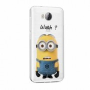 Husa Silicon Transparent Slim Minion Whaaat Huawei Honor 4A