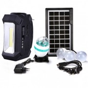 Kit Solar Lanterna LED Radio FM USB SD 4 Becuri 4V4Ah GDPlus GD8061