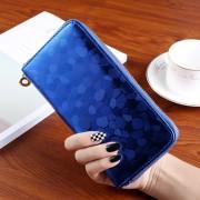 Nagyméretű divatos női pénztárca - Méret 19 x 9 cm - KÉK