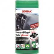 Sonax GmbH SONAX KunststoffPflegeTücher glänzend, Für Kunststoff, Holz und Gummi geeignet, 25 Tücher in wiederverschließbarer Box