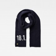 G-Star RAW Heren Edward Sjaal Donkerblauw - one size