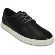 Crocs CitiLane Leather Lace-up Sneakers For Men(Black)