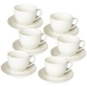 Tognana kávéscsésze készlet csészealjakkal 6 db 85 ml PERLA BIANCO
