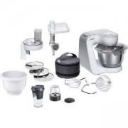 Кухненски робот Bosch MUM58250, Мощност 1000 W, Вместимост на купата 3.9 литра, Блендер, Бял/Сив