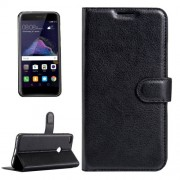 Huawei P8 Lite (2017) & P9 Lite (2017) & Honor 8 Lite Litchi Texture Horizontal Flip Leather Case with Magnetic Buckle & Holder & Card Slots & Wallet (Black)