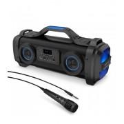 Astrum ST500 BoomBox hordozható karaoke bluetooth hangszóró FM rádióval, mikrofonnal, AUX, USB, 65W