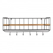 DUTCHBONE Etagère murale COAT RACK STACK rustique pin massif