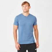 Myprotein Luxe Classic V-Neck T-Shirt - XL - Blue