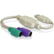 Adapter DELOCK, USB 2.0 (M) na 2x PS2 (Z)
