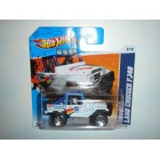 2011 Hot Wheels SHORT CARD Toyota Land Cruiser FJ40 White With Chrome OR5SP Wheel #133/244