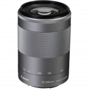 Lente Canon EF-M 55-200mm F/4.5-6.3 IS STM Plata (White Box)