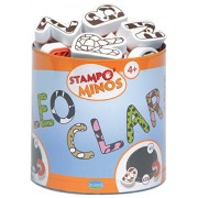 Aladine Stampominos, Letters Foam Stamps, Set of 26 Plus 1 Extra Large Ink Pad