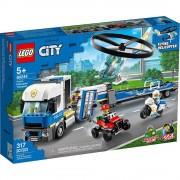 Lego set de construcción lego city policía: camión de transporte del helicóptero 60244