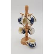 Set canute tuica visinata ceramica de Corund albastru