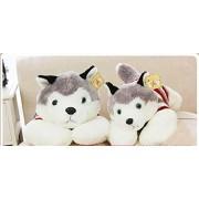 giant plush stuffed animal toy-Huskie Husky,28'' long,gray